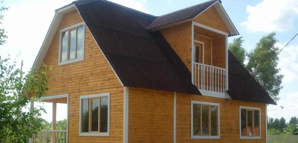 Двускатная крыша с кукушкой