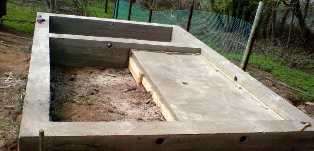 Фундамент под сруб бани