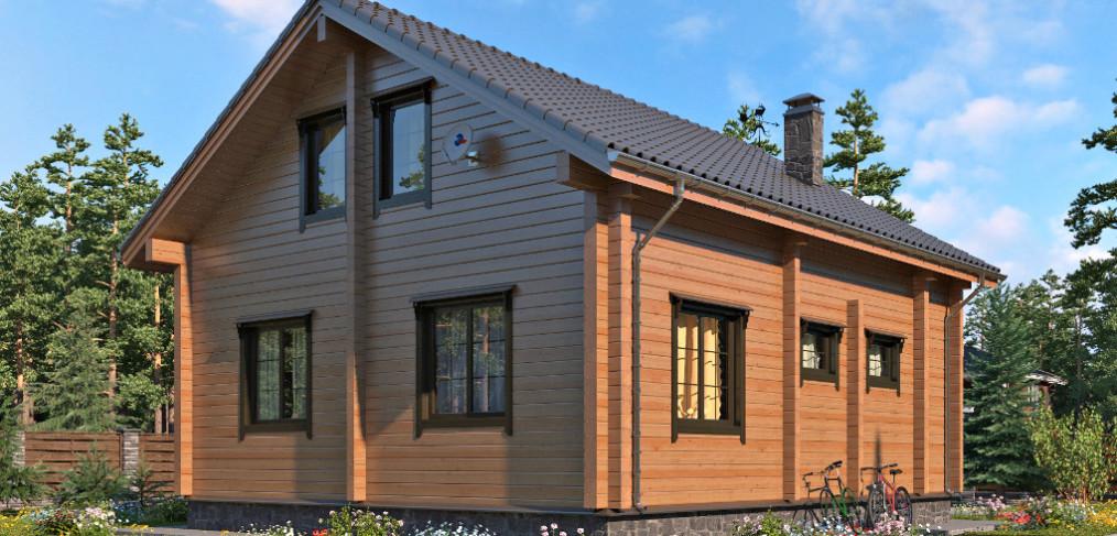 Обработка дома из профилированного бруса